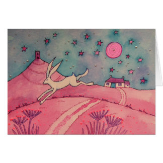 Mystical Hare Greeting Card