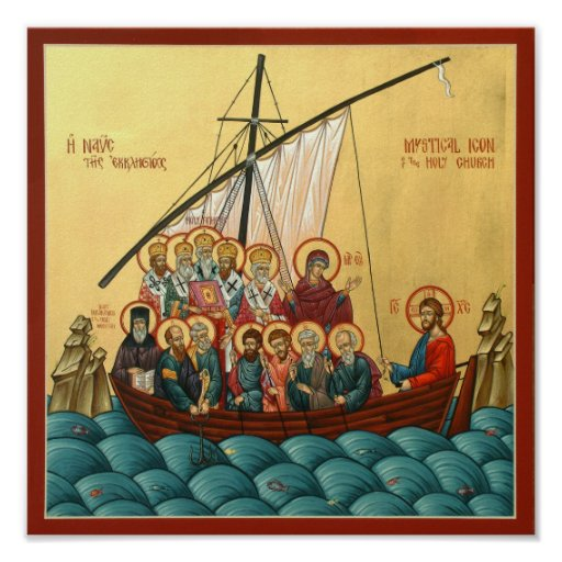 Mystical Icon of the Holy Church Poster