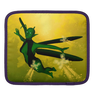 Mystical insects woman iPad sleeve
