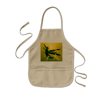 Mystical insects woman kids' apron