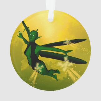 Mystical insects woman ornament