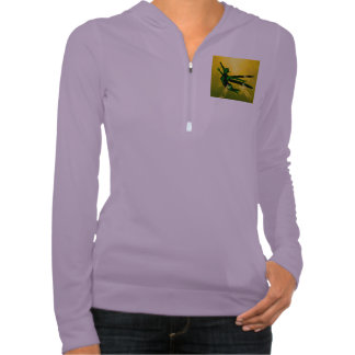 Mystical insects woman hooded pullovers