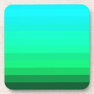 Mystical Jade Green Stripes Drink Coaster