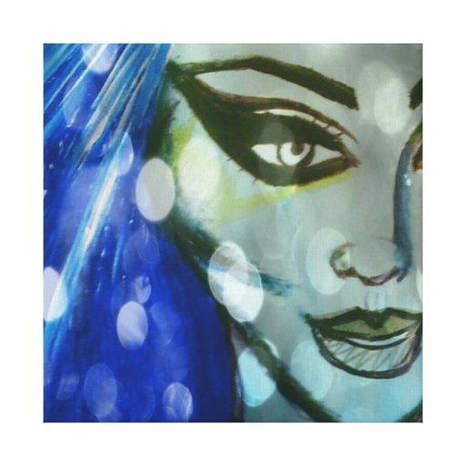 Mystical Lady By Trinnita Infinniti Canvas Canvas Print