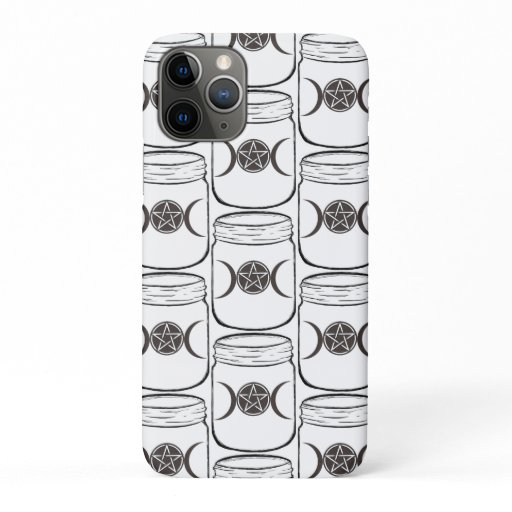Mystical Magic Moons Mason Jar iPhone 11 Pro Case