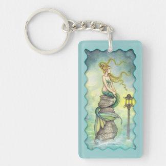 Mystical Mermaid Fantasy Art by Molly Harrison Single-Sided Rectangular Acrylic Keychain