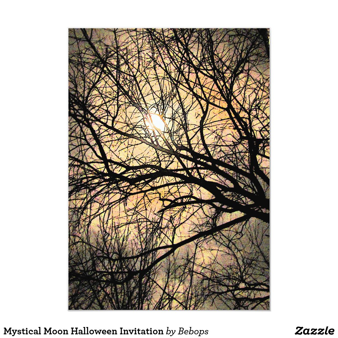 Mystical Moon Halloween Invitation