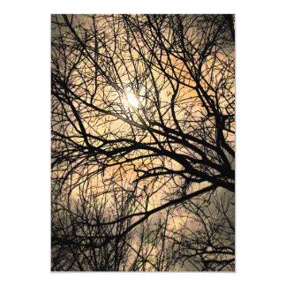 Mystical Moon Halloween 5x7 Paper Invitation Card