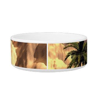 Mystical moon landscape pet food bowl