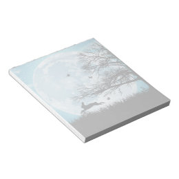 Mystical Moon with Rabbit Silhouette Notepad