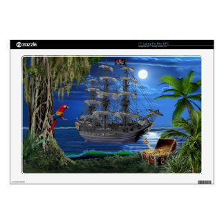 Mystical Moonlit Pirate Ship Skin For Laptop