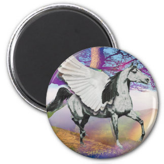 MYSTICAL MYTHICAL PEGASUS - WINGED HORSE - FANTASY REFRIGERATOR MAGNETS