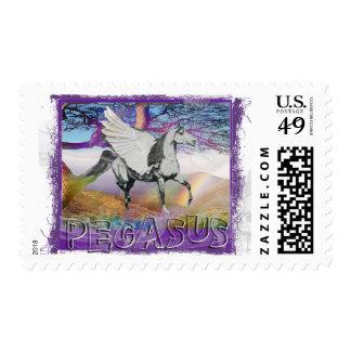 MYSTICAL MYTHICAL PEGASUS - WINGED HORSE - FANTASY POSTAGE