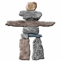 Mystical Native American Inukshuk Sculpted Magnet