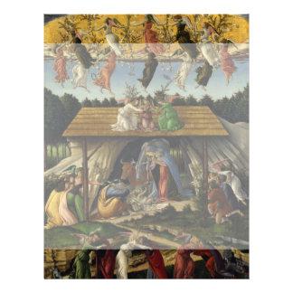Mystical Nativity by Sandro Botticelli Flyer