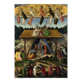 Mystical Nativity by Sandro Botticelli Custom Invitations