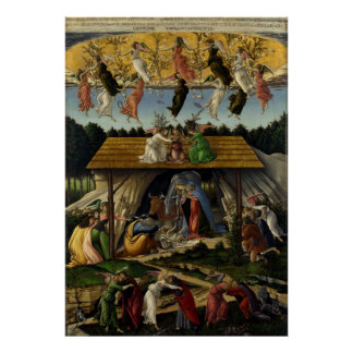 Mystical Nativity by Sandro Botticelli Posters