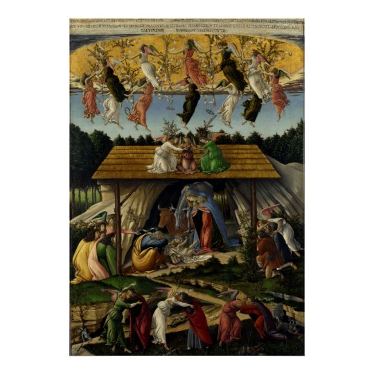 Mystical Nativity by Sandro Botticelli Poster