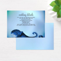 Mystical Ocean Octopus Wedding Details Cards
