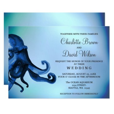 Mystical Ocean Octopus Wedding Invitations