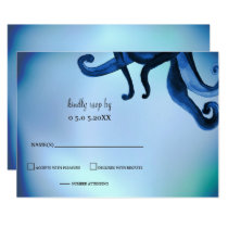 Mystical Ocean Octopus Wedding rsvp Card
