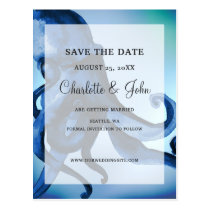 Mystical Ocean Octopus Wedding save the dates Postcard