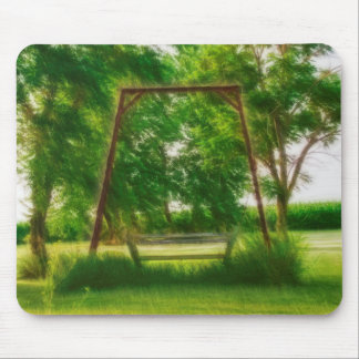 Mystical Old Swing in a Backyard Mouse Pad
