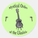 Mystical Order of the Ukulele Round Sticker