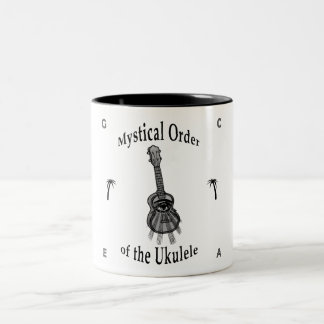 Mystical Order of the Ukulele Two-Tone Coffee Mug