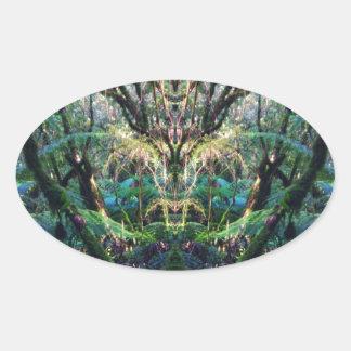 Mystical Oval Sticker