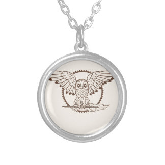 Mystical Owl in Flight Necklaces