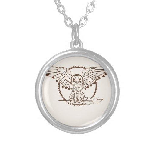 Mystical Owl In Flight Necklaces