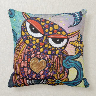 Mystical Owl Throw Pillow