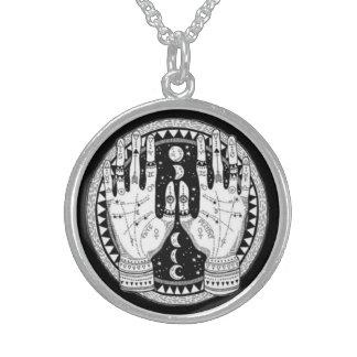 Mystical Palmistry Challenge Symbol Sterling Silver Necklace