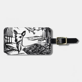 Mystical Peryton Winged Deer Luggage Tag