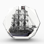 """Mystical Pirate Ship Acrylic Award<br><div class=""""desc"""">She is the Queen of pirate ships and she sails the seven seas, but for now she is anchored amid the ocean breeze. While her rigging is one we can admire every day, sailing on her is a pirate's desire in each and every way. Welcome to the twilight art zone...</div>"""