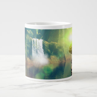 Mystical place with alien ships and buildings 20 oz large ceramic coffee mug