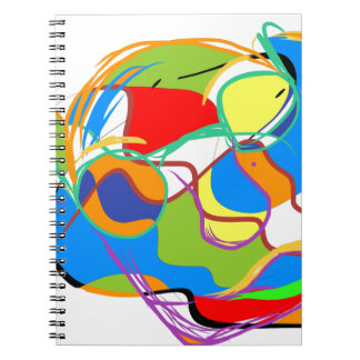 Mystical Portrait of an Old Man Spiral Note Book