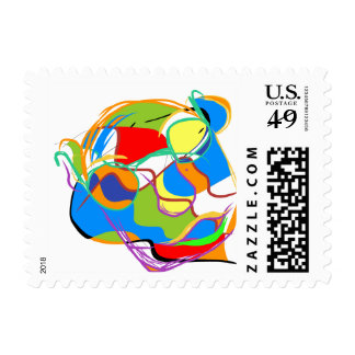 Mystical Portrait of an Old Man Postage Stamps