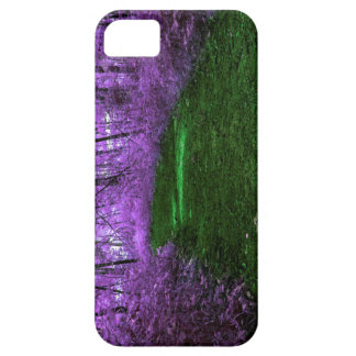 Mystical Purple Forest Digital Mixed Media Art iPhone SE/5/5s Case