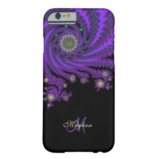 Mystical Purple Personalized Fractal iPhone 6 Case