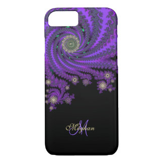 Mystical Purple Personalized Fractal iPhone 7 Case