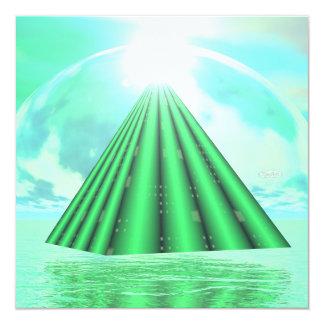 Mystical pyramid - 3D render Card