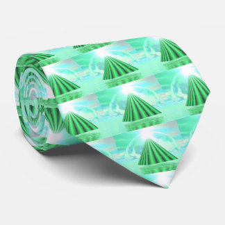Mystical pyramid - 3D render Neck Tie