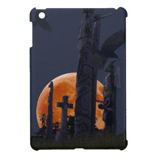 Mystical Raven, Moon & Goth Graveyard iPad Mini Covers