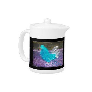 Mystical Rooster Art Teapot