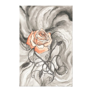 Mystical Rose In Darkness Canvas Print