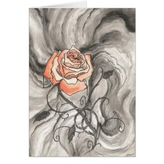 Mystical Rose In Darkness Card