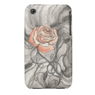 Mystical Rose In Darkness iPhone 3 Covers