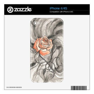 Mystical Rose In Darkness iPhone 4S Decal